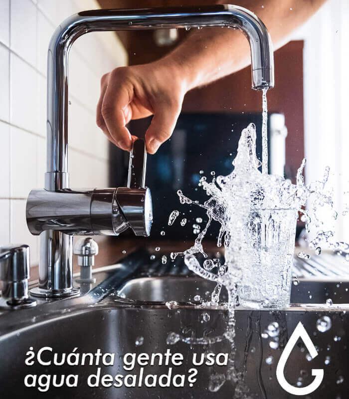 ¿Cuánta gente usa agua desalada?